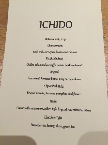ichido menu